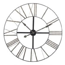 "distressed metal skeleton clock ""90cm round"""